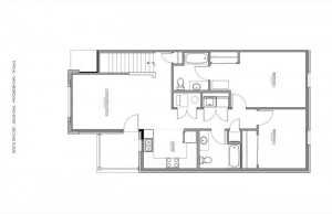 2 Bedroom Apartment Floor Plan (Second Floor)